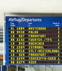 Zahlreiche Reiseziele werden von Nürnberg aus direkt angeflogen.