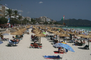 Direkt in Cala Millor erstreckt sich ein langer beliebter Sandstrand