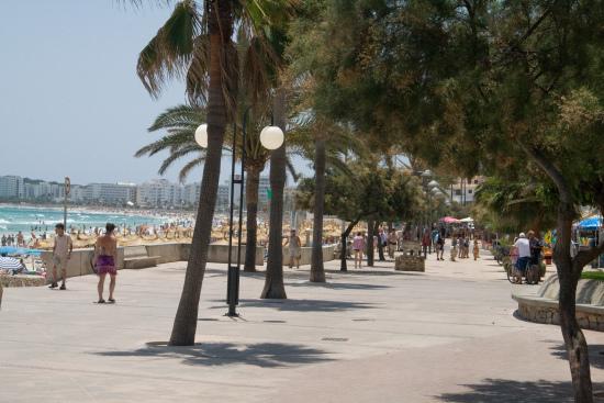 Rund um den traumhaften Sandstrand lässt sich auf der Promenade von Cala Millor flanieren