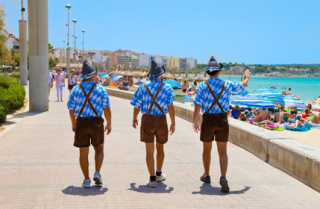 Auf dem Boulevard von Playa de Palma kann es auch mal bayrisch werden