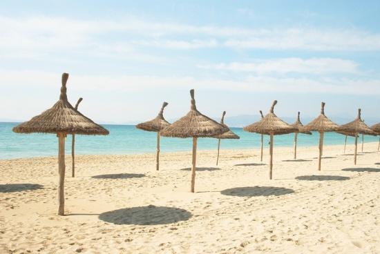 Der Strand an der Playa de Palma