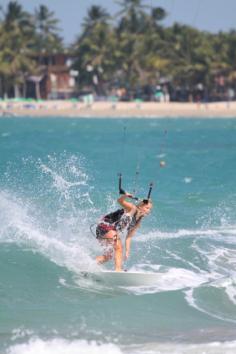 Kite Surferin vor Cabarete