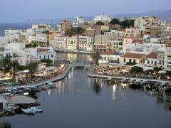Agios Nikolaos an der Ostküste auf Kreta.