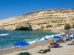 Urlaub auf Kreta an schönen Buchten des Mittelmeers.
