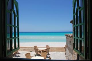 Blick vom Restaurant in Varadero auf das Meer