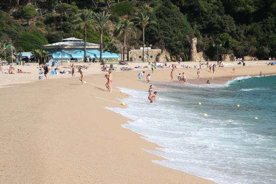 Eintauchen ins Meer am Strand der Costa Brava