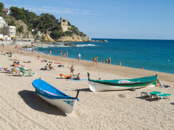 Am Strand in Lloret de Mar