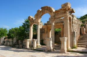 Die Ausgrabungsstätten von Ephesos im Westen der Türkei